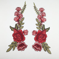 Wholesale Diy Clothes Dress Flowers - DIY Flower Embroidery Manual Clothing Material Beautiful Rose Applique Wedding Dress Accessories Fabric Decals Hot Sale 2 95lh C R