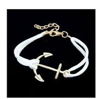anclajes pulseira al por mayor-Pulseras de anclaje para las mujeres de los hombres de moda pulseras del encanto de los brazaletes de la cuerda 8 joyería de la Masculina de cuero Vintage Pulseira Pulsera Mujer