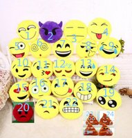 Wholesale pounding toys for sale - 30cm Cute type Creative Emoji Pillow Soft Stuffed Plush Toy Doll Round Emoticon Smiley Cushion Gift Home Decor Sofa Bed Throw Pillow