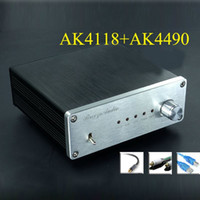 Wholesale Asynchronous Usb Dac - Freeshipping Finished AK4490+AK4118+XMOS USB DAC Asynchronous Hifi Audio Digital Decoder Support Coaxial Optical USB 384K 32BIT input
