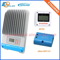Wholesale solar panel charge controller regulator online - 60amp A Regulator solar panel Battery Charge Controller ET6420BND with white MT50 and wifi funciton for home use