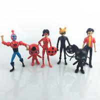 Wholesale Vinyl Dolls Wholesalers - 6pcs lot Miraculous Ladybug Comic Ladybug Girl Doll Box Action Figure Toys Cute Vinyl Anime Toys for Children Birthday Gifts