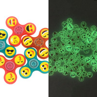 Wholesale Spinning Glow - luminous Glow Emoji Fidget Spinners Triangle Design Hand Spinner EDC Toys For Decompression Anxiety Spinning Top