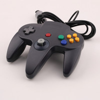 Wholesale Nintendo 64 Game Systems - Gamepads Long Handle Game Controller Pad Joystick for Nintendo 64 N64 System Black free shipping