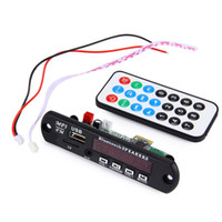 Wholesale Usb Mp3 Module - Hot Car Bluetooth MP3 Decoding Board Module FM Radio USB TF AUX Remote Control for Vehicle 12V Wireless Audio Decoder Module