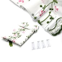 Wholesale Ceiling Draping Fabric - Wholesale-Fashion 1PCS Floral Sheer Tab Top Window Curtains Drapes For Bedroom