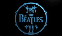 LS1356-b-The-Beatles-Band-Música-Bateria-Neon-Light-Sinais