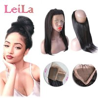 Brazilian Pre Plucked 360 Lace Frontal Straight Hair With Baby Hair 70-100g Natural Hairline Straight 360 Lace Frontal Closure