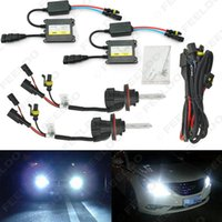 FEELDO 35W AC Farol do carro H13 HID Xenon Bulb Hi / Lo Beam Bi-Xenon Bulbo Light Digital Slim Balltre HID Kit # 4534