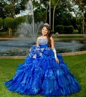 Wholesale Shinny Gold Beads - Custom Made Ball Gown Quinceanera Dresses Strapless Shinny Sequins Beaded Strapless Corset Vestidos De 15 Anos Girls Dance Debutantes Gowns