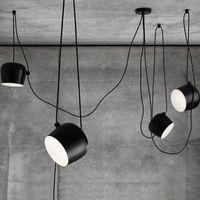 Wholesale Grow Light 15 - LED Lights Aluminium Flos Aim White Black E27 Pendant Lamp Lights LED Bulb Grow Lights Bar Living Room Droplight Lighting Chandeliers Light