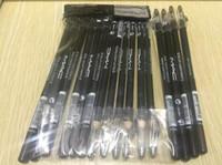 Wholesale ship pencil sharpener - Free shipping makeup eyebrow pencil with sharpener eye lip liner pencil black and brown 24PCS