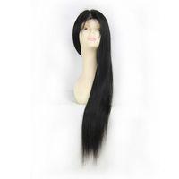 perucas surpreendentes venda por atacado-Incrível Mulheres Lace frontal perucas Peruca de Cabelo Humano 130% Densidade Rendas Suíço Indiano brasileiro Peruano Preto Natural cabelo Útil reta