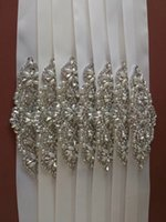 Wholesale Shiny Stockings Red - In Stock Bling Bling Stones Pearls Wedding Prom Evening Sashes Luxury Beading Shiny Bridal Accessories Cheap 2017