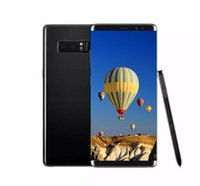 Wholesale Note Unlocked 3g - 6.3inch Goophone Note8 Note 8 Quad Core MTK6580 Android 1GB RAM 4GB ROM show 64GB fake 4G lte 3G WCDMA Unlocked phone