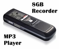 Wholesale Pro Audio Sound - Wholesale-Digital sound recorder PRO 8GB 650Hr USB Digital Audio Voice Telephone Recorder Dictaphone MP3 Player Free Shpping
