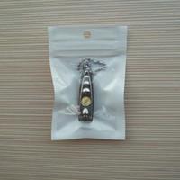 sacs cadeaux en plastique achat en gros de-Sac d'emballage d'emballage en plastique blanc + clair auto-scellant en plastique avec fermeture éclair, sac en poly pour trou de suspension pour câble de chargeur de voiture USB 2000pcs / lot