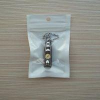 poly geschenk taschen großhandel-Weiß + Klare Selbstdichtungs-Reißverschluss-Plastikkleinverpackungs-Tasche, Polybeutel-Fall-Loch für Geschenkautoladegerät USB-Kabel 2000pcs / lot