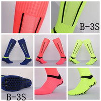 Wholesale B S Multi slip stockings Long Adult Soccer Socks Thick non slip sports football absorbent sweat towel training breathable high quality