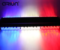 CIRIO Rojo / Blanco / Azul Ambos Laterales 36 LED Magnetic Car Truck Roof Flashing Beacon Emergency Strobe Light Bar Lámpara Dash Grille Light
