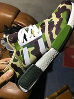 Wholesale Cheap Shoes Colors - 2016 Top quality NMD Camo Army Green Boost for Cheap Sale Fashion Running Shoes Camouflage Colors Casual Boosts Size 36-45
