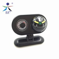 Wholesale Car Mounted Compass - Wholesale-Pivoting Compasses Dashboard Dash Mount Vehicle-borne Type Car Compass with Thermometer Caravan Boat Truck Compass