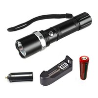 Cree L2 lampe torche lampe auto-défense lampe flash LED puissante tactique urgence défensive torch + 1battery + 1charger
