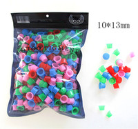 Wholesale Tattoo Mixing Caps - mix color TATTOO INK CUPS Caps 1000 pcs Pigment Supplies Plastic Self-standing Ink Cups free shipping