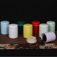 Wholesale Mini Caddy - Multicolor 4.8*6.8cm Mini Ceramic Tea Caddy Canister Kitchen Storage Box Porcelain Jar Spice Sugar Pots ZA4816