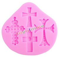 Wholesale Silicone Mold Chocolate Fondant Mould - Wholesale- Gothic Cross Jesus Silicone Fondant Mould Cake Decorating Chocolate Baking Mold