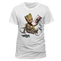 Wholesale Neck Tape - Casual Shirt Tee Summer Men O-Neck Short-Sleeve Guardians Of The Galaxy Vol 2 - Baby Groot Tangled Up In Cassette Tape Tee Shirt
