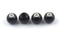 señales de bicicleta al por mayor-4 unids / lote Válvula de Neumáticos de Bola de Aluminio Caps 8 Signo para Auto Bike Motocicleta US Válvula Del Neumático Del Vástago Cap American Valve Car-styling Parts