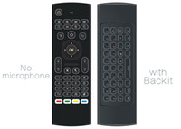 Wholesale microphone mini android tv box for sale - Group buy 10pcs MX3 X8 T3 backlit Without Microphone Mini GHz Wireless Gyroscope Keyboard Air Mouse Remote G Sensor For Android TV BOX PC dongle