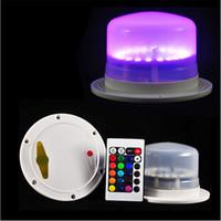 velas de navidad de control remoto al por mayor-Colorido Led Iluminación para Muebles Batería Recargable Bombilla Vela Control Remoto Impermeable IP68 Al Aire Libre Luces de Navidad Decoraciones