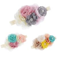 cintas para la cabeza de adultos al por mayor-Diademas de niña de las flores Accesorio para el cabello del bebé al adulto con flores hechas a mano Moda Niñas Bandas de cabeza de fiesta de cumpleaños para recién nacidos