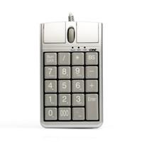 usbrad großhandel-Original 2 in iOne Scorpius N4 Optische Maus USB-Tastatur, verkabelt 19 Numerische Tastatur mit Maus und Scrollrad für schnelle Dateneingabe