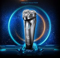 Wholesale Shaver Washable - Hot FLYCO Washable Rechargeable Rotary Men's Electric Shaver Razor with 3D Floating Heads 1 Hour Quick Charge Hair Removal FS339