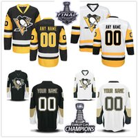 Wholesale Polyester 65 Cotton 35 - 2017 Stanley Cup Champions Finals Pittsburgh Penguins 34 Tom Kuhnhackl 35 Tristan Jarry 59 Jake Guentzel 40 Sundqvist 65 Ron Hainsey Jersey