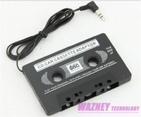 Wholesale S4 Cassette - 400pcs lot*3.5mm jack CAR Audio CASSETTE TAPE ADAPTER FOR iPhone Samsung Galaxy S3 S4 Nano MP3 IPOD NANO CD IPHONE