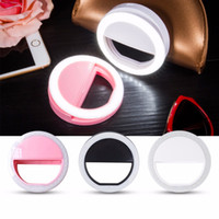 black lighting portable - Selfie Portable Flash Led Camera Phone Ring Light Enhancing Photography for Smartphone iPhone Samsung white pink blue black