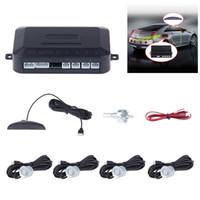 Wholesale Bmw Lcd Monitor - Car Parking Sensor Kit No Hole Saw Buzzer   LED   LCD Display Backup Radar Monitor System 12V 8 Colors 4 Sensors 22mm