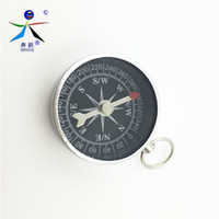 Wholesale Pocket Compass Aluminum - Wholesale-Pocket 35mm Camping Hiking Compasses Lightweight Aluminum Outdoor Travel Compass Navigation Wild Survival Tool Black Wholesale