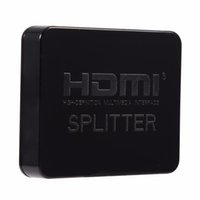 HDMI 1 em 2 Out Splitter Amplificador Duplicador Hub Box Auto Switch Full 3D 1080 HD HDTV Converter Adapter + Cabo USB Frete Grátis