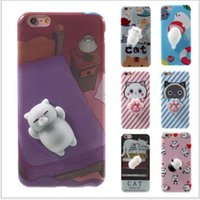 Wholesale Nice Phone Cases - The coolest 6 7 7p squishy cat phone case test one by one very nice tpu for iphone 6s plus case
