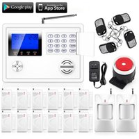 Wholesale Gsm Pstn Telephone Alarm System - LS111- FUERS Wireless 103 zones GSM SMS PSTN Telephone Voice Alarm System Timely Android IOS APP remote Arm Disarm lcd display Screen