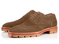 Wholesale Vintage Brogues Mens - Vintage Nubuck Leather Mens Oxford Shoes 2017 New Spring British Style Brogue Shoe Suede Flats Business Men Casual Shoes Big Size 38-46