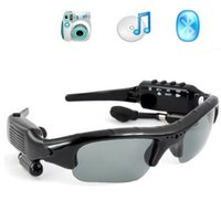 Wholesale Dv Mp3 Sunglasses - 5pcs lot 8GB 4 in 1 Smart Sunglasses Sports DVR Mini DV Audio Video Recorder Portable Camcorders Video Camara MP3 Player Earphones