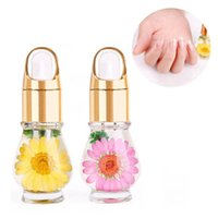 Wholesale Nail Nourishment Oil - Dry Flower Nail Nutrition Oil Nails Treatment Natural Softening Liquid Cuticle Soften Agent Nails Edge Protection Care Manicure