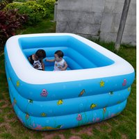Pool square inflatable pool - Outdoor Summer Family Inflatable Pools Square PVC Piscina Piscine Swimming Pools For Adults and Children Size CM