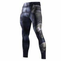 pantalon de compression lycra achat en gros de-Pantalon de survêtement maigre pour hommes Pantalon de compression Leggings de mode Hommes Jogger 3D Pantalon de Fitness Superman